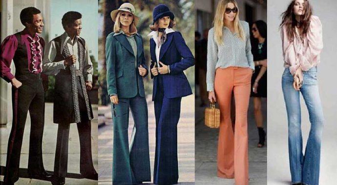 Образы с брюками клёш