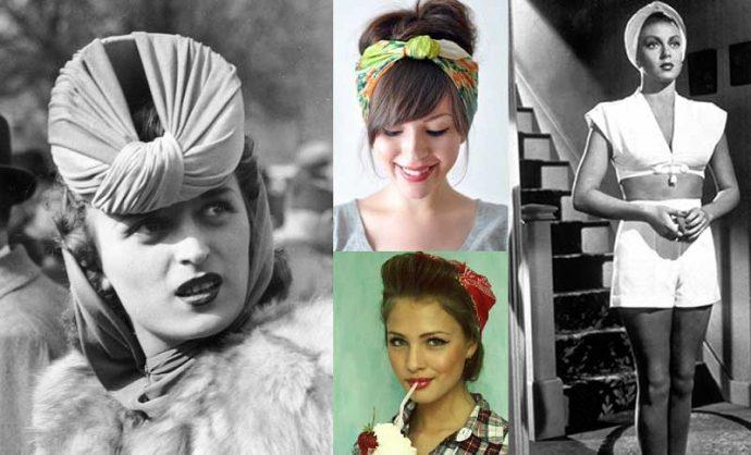Девушки с повязками на голове