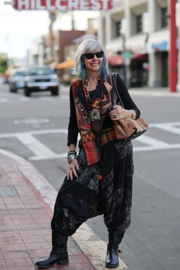 Модная старушка