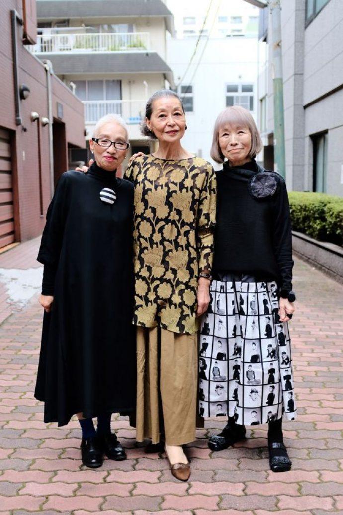 Пожилые женщины японки